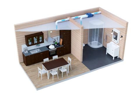 Вытяжная система вентиляции ДомВент Дача