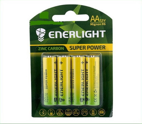 Батарейки Enerlight Super Power R6, AA (4/48) BL