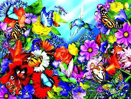 Картина раскраска по номерам 40x50 Цветы и бабочки– купить ...