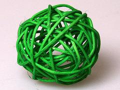 Шар из ротанга зеленый диам 5см 1 шт.