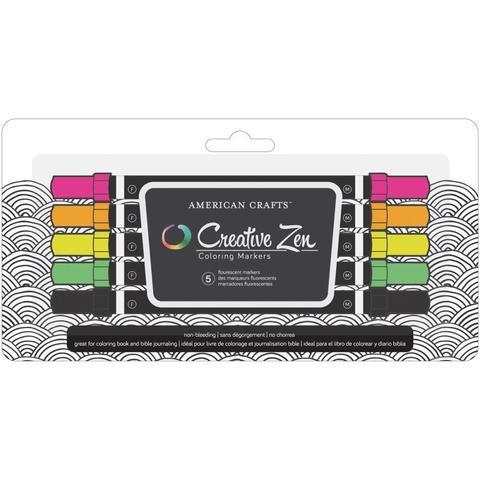 Набор маркеров Creative Zen - Coloring Markers - fluorescent