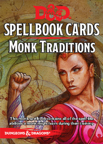 D&D Next: Spellbook Cards (Monk Traditions)