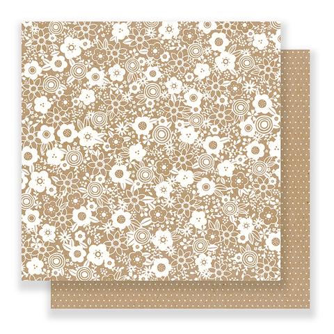Лист двусторонней бумаги 30х30 см  Pebbles - Spring Fling
