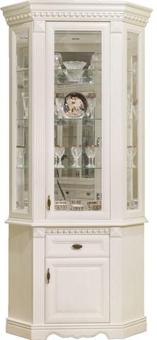 Шкаф с витриной угловой Афина Высокий