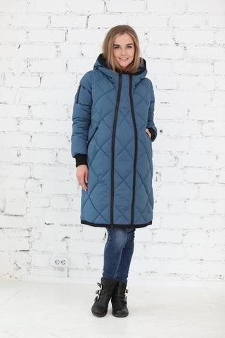 Куртка 2в1 для беременных 10803 синий/серый