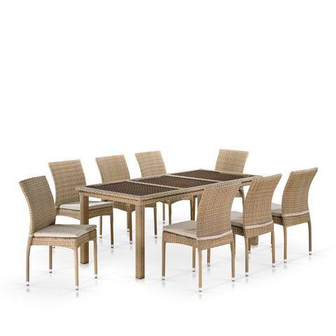 Комплект мебели (иск. ротанг)  8+1