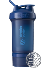 BlenderBottle ProStak, 650мл Шейкер с 2мя контейнерами, таблетницей и пружиной нови темно синий