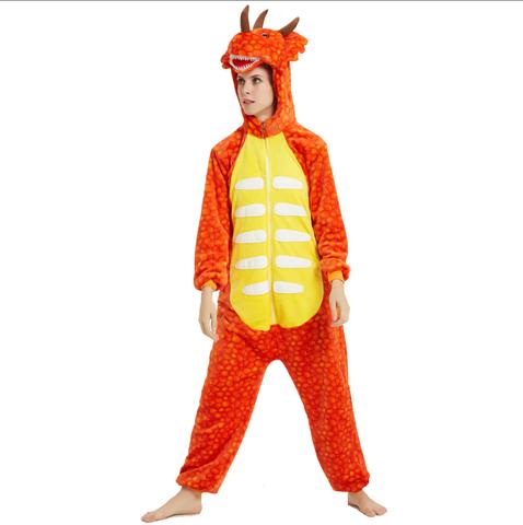 Трицератопс оранжевый 3