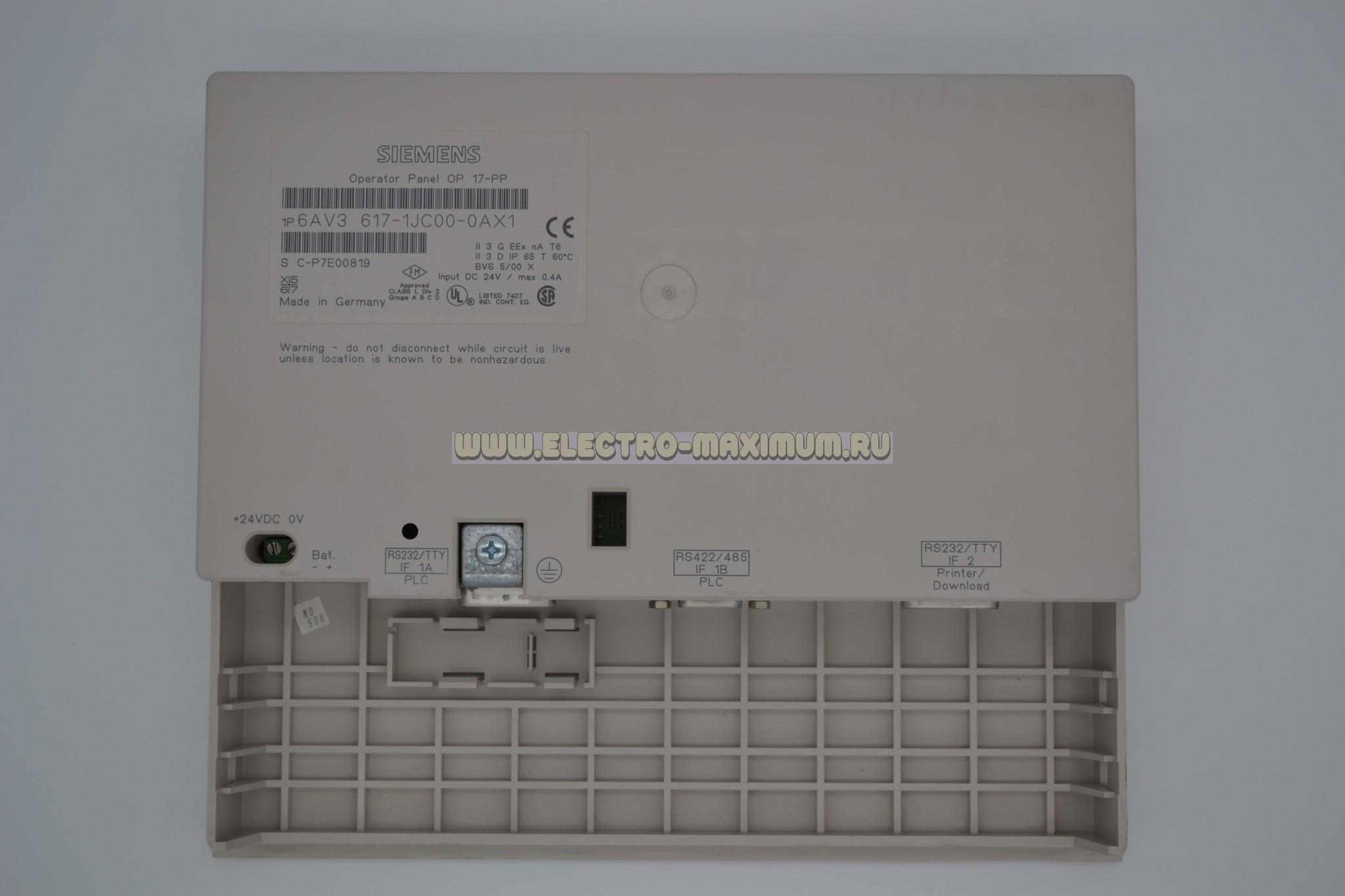 Панель оператора 6AV3 617-1JC00-0AX1