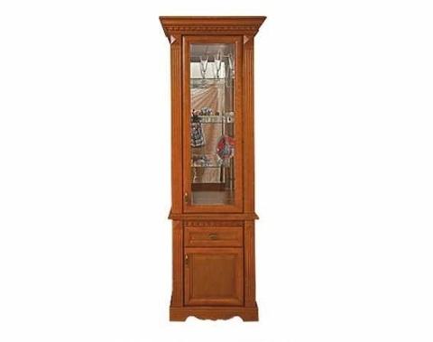 Шкаф с витриной 1 дв. Афина Высокий