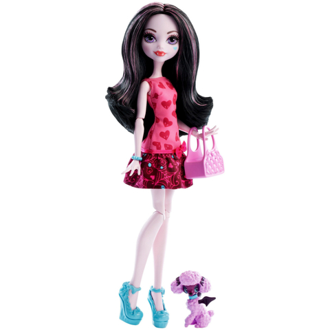 Кукла Монстер Хай  Дракулаура (Draculaura) - Монстры с питомцами, Mattel