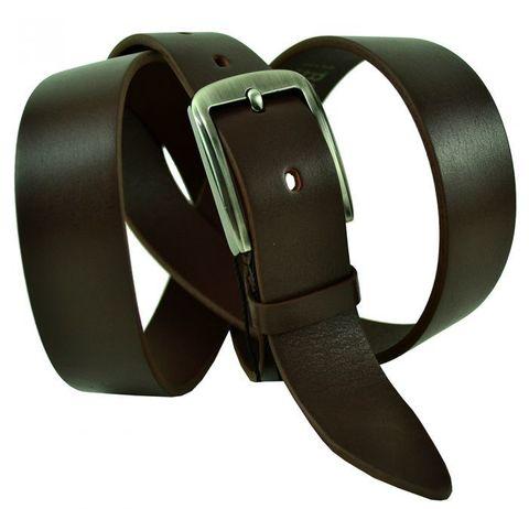 Ремень узкий коричневый брючный кожаный 30 мм BS Profi 30BS-008