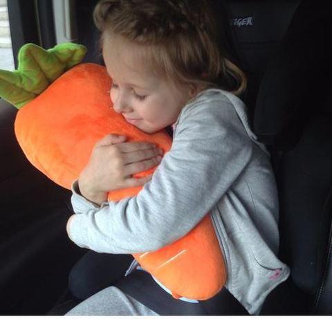 Подушка на ремень безопасности авто Морковка, оранжевая