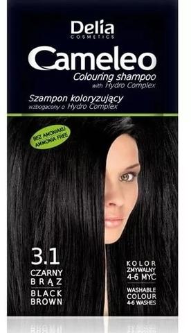Delia Cosmetics Cameleo Оттеночный шампунь тон 3.1 черно-коричневый (саше 40мл)