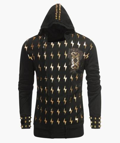 Толстовка The Saints Sinphony LIGHTNING ZUES HOODY GOLD