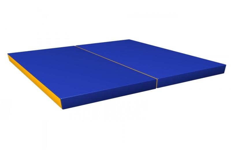 Мат гимнастический 1х1,5х0,1м, (в 2 сложения) поролон, искуственная кожа