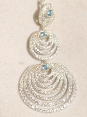 Нефертити (серебряные серьги)