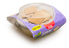 Хумус с баклажанами и мини хлебцами, 115г