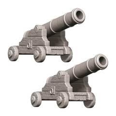 WizKids Deep Cuts Unpainted Miniatures - Cannons