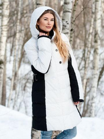 Joutsen пуховик Tiffany бело-черный