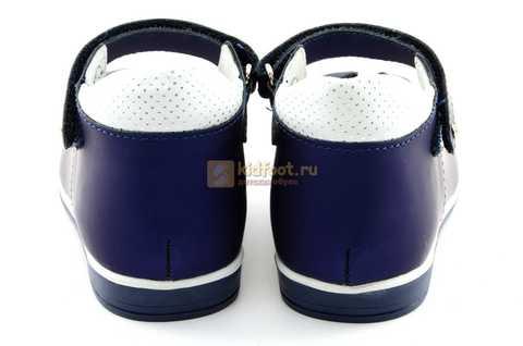 Туфли ELEGAMI (Элегами) из натуральной кожи для девочек, цвет темно синий металлик, артикул 7-805761502. Изображение 7 из 13.