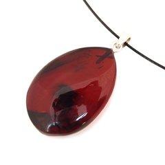 янтарный кулон цвет вишня