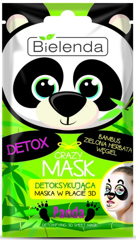 CRAZY MASK Детокс тканевая маска Панда, 1 шт