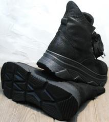 Стильные женские ботинки сникерсы осенние Rifellini Rovigo 525 Black.