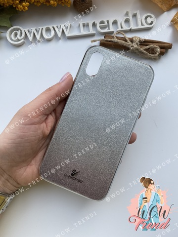 Чехол iPhone X/XS Swarovski Case /black/