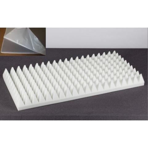 негорючая  акустическая панель  Пирамида ECHOTON FIREPROOF 100x50x7cm  из материала  BASOTECT белый с адгезивным  слоем