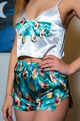 Шелковая пижама Авокадо