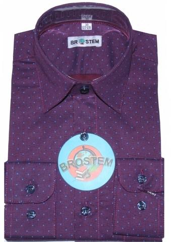BROSTEM Рубашка для мальчика школьная 8LD034+4d фиолетовый
