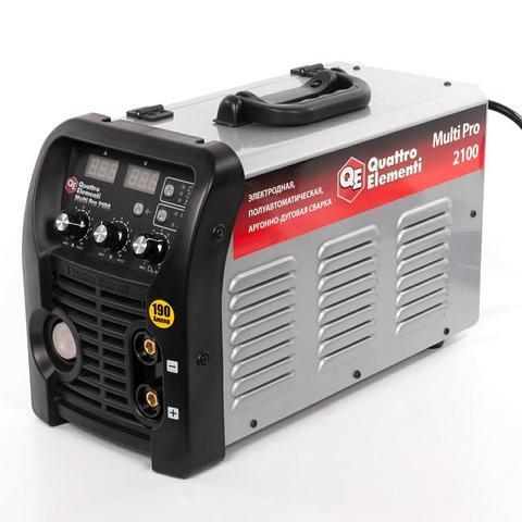 Аппарат полуавтомат. сварки, инвертор QUATTRO ELEMENTI Multi Pro 2100 (190A, 3 вида сварки MIG/TIG/MMA, дисплей)