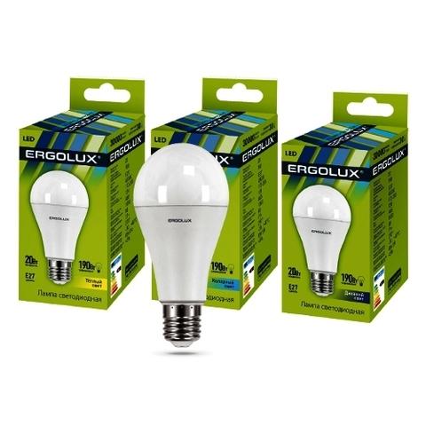 Лампа Ergolux LED-A65-20W-E27-4K (холодный свет)