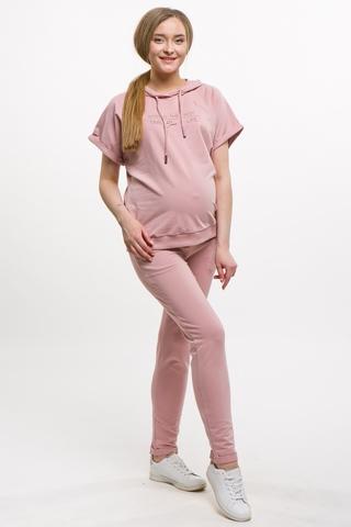 Спортивный костюм для беременных и кормящих 10621 пыльно-розовый