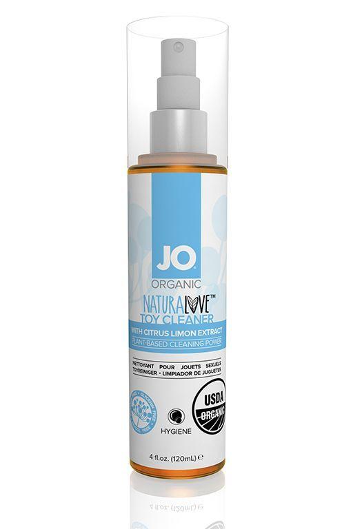 Интимная гигиена: Чистящее средство для игрушек JO NATURALOVE TOY CLEANER - 120 мл.