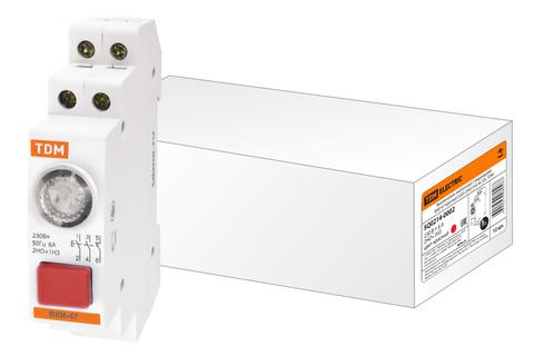 Выключатель кнопочный с индикацией ВКИ-47 красный (LED) 2НО;1НЗ AC/DC TDM