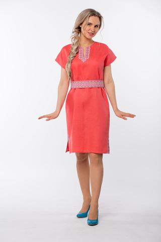 Платье льняное Шафран