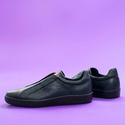 Мужские кожаные кроссовки стиль casual