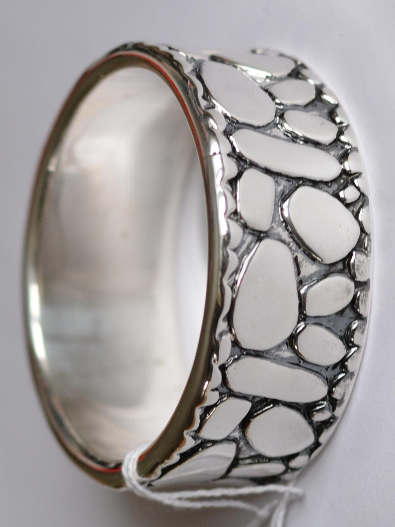 Камушки (браслет из серебра)