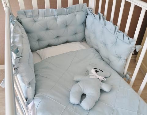 Бортики в кроватку Ричард, Basic, на 3 стороны кроватки