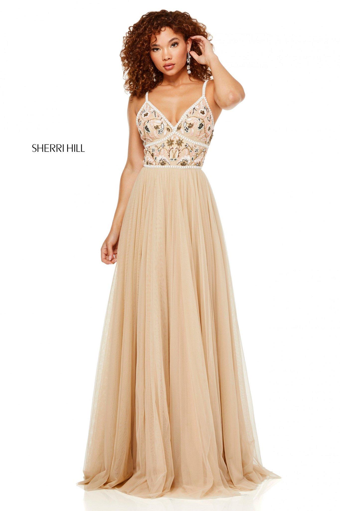 Sherri Hill 52523 Платье в пол, юбка длинная и пышная