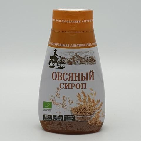 Овсяный сироп органический сахарозаменитель BIONOVA, 230 гр