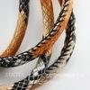 """Шнур кожаный, 6 мм, """"Змея"""", цвет - оранжевый, 6 мм, примерно 1 м"""