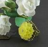 Основа для кольца с сеттингом для кабошона 14 мм (цвет - античная бронза) (Кольцо с цветком. Пример)