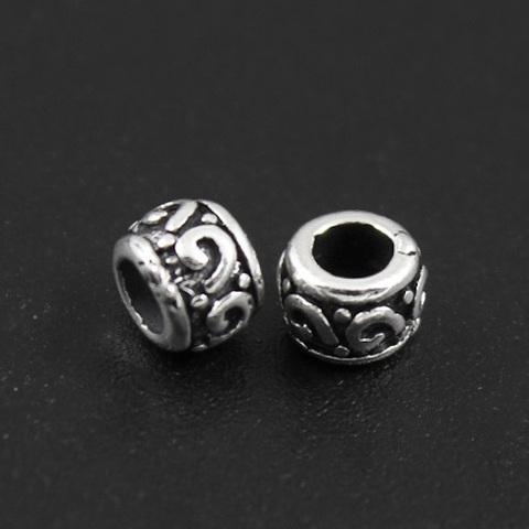 Рондель разделитель 5 х 3,9 мм серебро 925