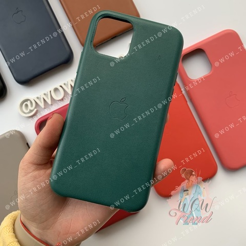 Чехол iPhone 11 Leather Case /forest green/
