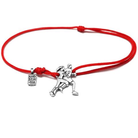 Running cord bracelet, Sterling Silver