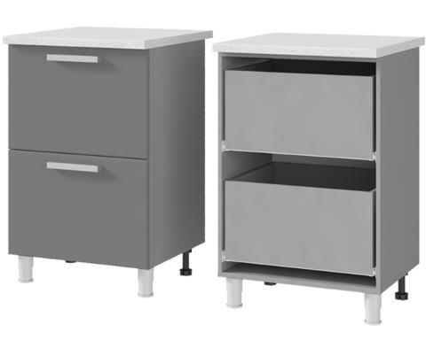 Шкаф-стол с 2-мя ящиками (600*820*600) 6Р2