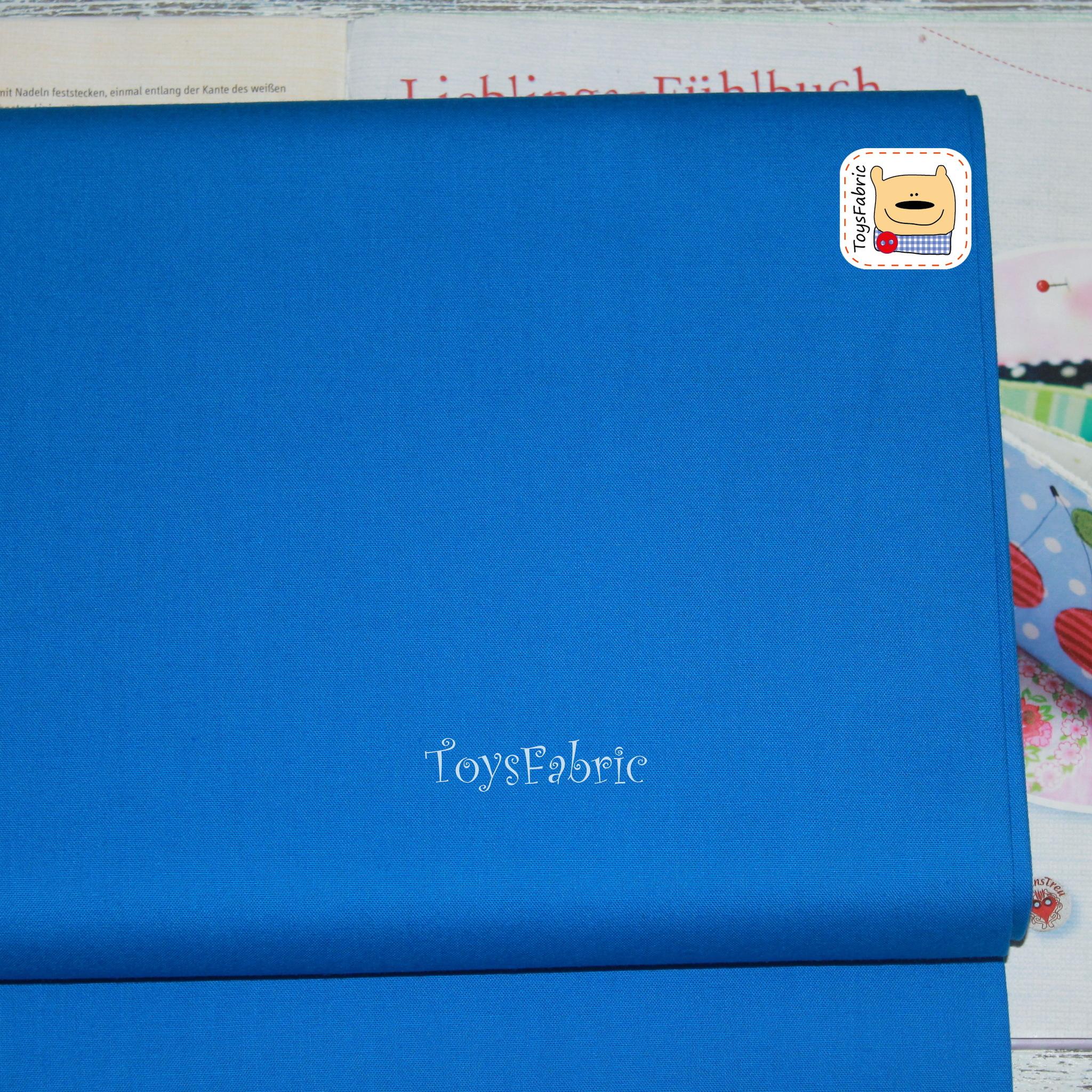 Ткань для пэчворка 20668 (однотонный синий) 45х55см